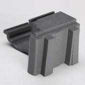 Cambro - Camshelving Elements Series Corner Connector, Brushed Graphite, 8 Sets for 4 Shelves