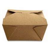Eco-Box #1 Food Container, Poly Coated Kraft 4x3x2.5