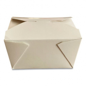 Eco-Box #1 Food Container, Poly Coated White 4x3x2.5