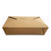 Eco-Box #2 Food Container, Poly Coated Kraft 7x5x1.9