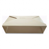 Eco-Box #2 Food Container, Poly Coated White 7x5x1.9