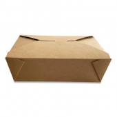 Eco-Box #3 Food Container, Poly Coated Kraft 7x5x2.5