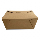 Eco-Box #4 Food Container, Poly Coated Kraft 7x5x3.5