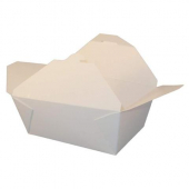 Eco-Box #4 Food Container, Poly Coated White 7x5x3.5