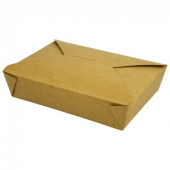 Eco-Box #5 Food Container, Poly Coated Kraft 8.5x8.5x2.5
