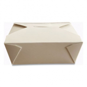 Eco-Box #8 Food Container, Poly Coated White 6x4x2.5