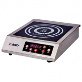 Winco - Induction Cooker, Commercial Electric 1800 W with 11x11 German Schott Ceramic Glass Cooking