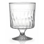 Fineline Settings - Flairware Wine Glass, 8 oz 1-piece Clear Plastic