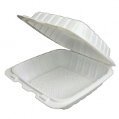 Compostable Hinged Container, 6x6 with 1 Compartment