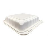 Compostable Hinged Container, 8x8 with 1 Compartment