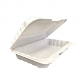 Compostable Hinged Container, 9x6x3 with 1 Compartment