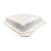 Compostable Hinged Container, 9x9 with 1 Compartments