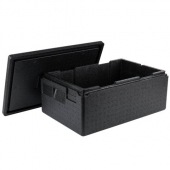 Cambro - GoBox Food Pan Carrier, 37.5 Qt Full Size Insulated Black, 23.5625x15.6875x10