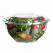 Eco-Products - Bowl with Lid, 24 oz Clear PLA Plastic