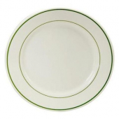 "Oneida - Buffalo Plate, 5.5"" Round with Niagara Green Band"