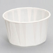 Cup, 3.25 oz White Paper Souffle Portion Cup