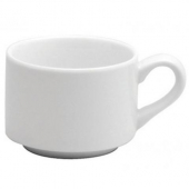 Oneida Stacking Cup, 7.5 oz Bright White Porcelain
