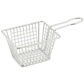 Winco - Mini Serving Basket, Rectangular 5x4x4 Stainless Steel