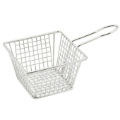 Winco - Mini Serving Basket, Square 5x5x4 Stainless Steel