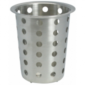 "Winco - Flatware Cylinder, Perforated Stainless Steel, Fits 4"" Diameter Hole"