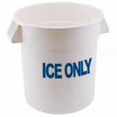"Winco - Container, 10 Gallon ""ICE ONLY"" White Plastic"