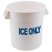 "Winco - Container, 20 Gallon ""ICE ONLY"" White Plastic"