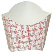 Fry Carton/Container, 6 oz Red Plaid Paper
