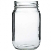 Cardinal - Mason Jar without Handle, 15.25 oz Glass, 12 count