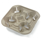 Carry Out Tray, 4 Cup Holder