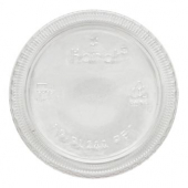 Karat - Portion Cup Lid, Fits 1 oz Squat and 2 oz Cups, Clear PET Plastic