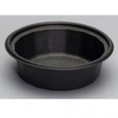 Genpak - Container, Black Round, Microwave Safe Base, 24 oz