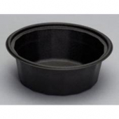 Genpak - Container, Black Round, Microwave Safe Base, 32 oz