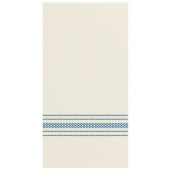 Hoffmaster - FashnPoint Dinner Napkin, Blue and White Dishtowel Design, 15.5x15.5, 1/8 Fold