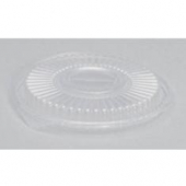 Genpak - Lid, Clear Plastic, Round, Fits 8, 12 and 16 oz container