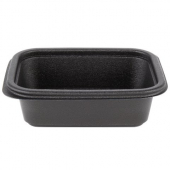 Genpak - Container, 12 oz Black Rectangle, Microwave Safe Base