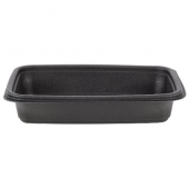 Genpak - Container, 24 oz Black Rectangle, Microwave Safe Base