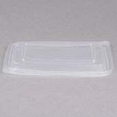 Genpak - Lid, Clear Plastic, Rectangle, Fits 24 and 32 oz container