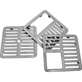 GSW - Top Grate, 1/2 Size, 9.375x9.375 Cast Iron