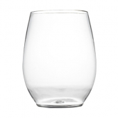 Fineline Settings - Renaissance Stemless Goblet, 12 oz Clear Plastic