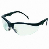 Safety Goggles, Black Frame/Clear Lens