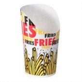 Solo - Cup, 9 oz French Fry Scoop Cup, Double Sided Poly Paper