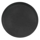 "Winco - Serving Tray, 16"" Round Black Easy-Hold Rubber-Lined"