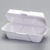 Genpak - Harvest Fiber Container, Hoagie, 9x5x3 Natural White Compostable
