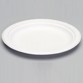 "Genpak - Harvest Fiber Plate, 8.75"" Natural White Compostable"