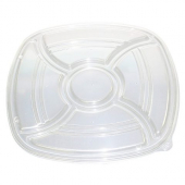 "D&W Fine Pack - Catering Tray Lid, 14"" Vented Forum, Clear Plastic"