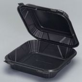 Genpak - Harvest Pro Container, Medium Hinged, 1 Compartment, Black, 8x8.25x2.8