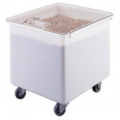 Cambro - Ingredient Storage Bin with Clear Plastic Lid, 32 Gallon White Plastic, 22x24x23