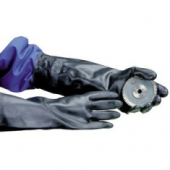 "Gloves, Neoprene Black 13"" Flock Lined, XL"