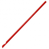 "Karat - Spoon Straw, 9.45"" Red Plastic"