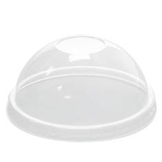 Karat - Dome Lid with no Hole, Fits 12 oz Cup, Clear PET Plastic